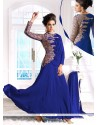 Striking Blue Georgette Anarkali Suit