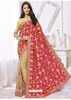 Multi Colour Chiffon Designer Party Wear Saree
