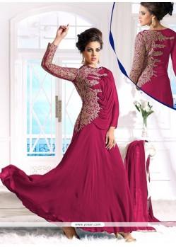 Magenta Georgette Designer Anarkali Suit
