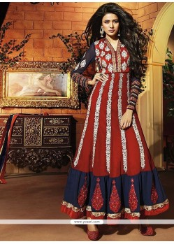 Beautiful Red Georgette Anarkali Suit
