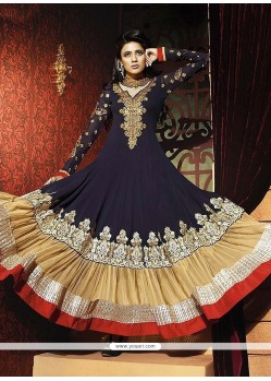 Dashing Blue Georgette Anarkali Suit