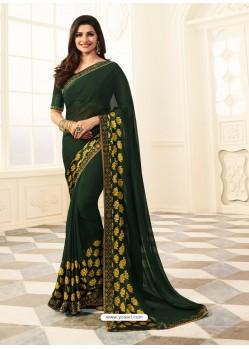 Dark Green Rangoli Designer Printed Saree