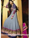 Nice Grey Georgette Anarkali Suit