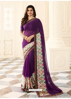 Purple Rangoli Designer Printed Saree