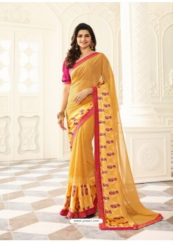 Yellow Rangoli Designer Printed Saree