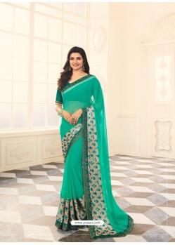 Jade Green Rangoli Designer Printed Saree