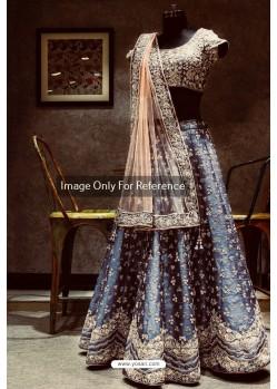 Pigeon Banarasi Silk Embroidered Designer Lehenga Choli