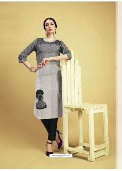 Multi Colour Printed Cotton Designer Kurti