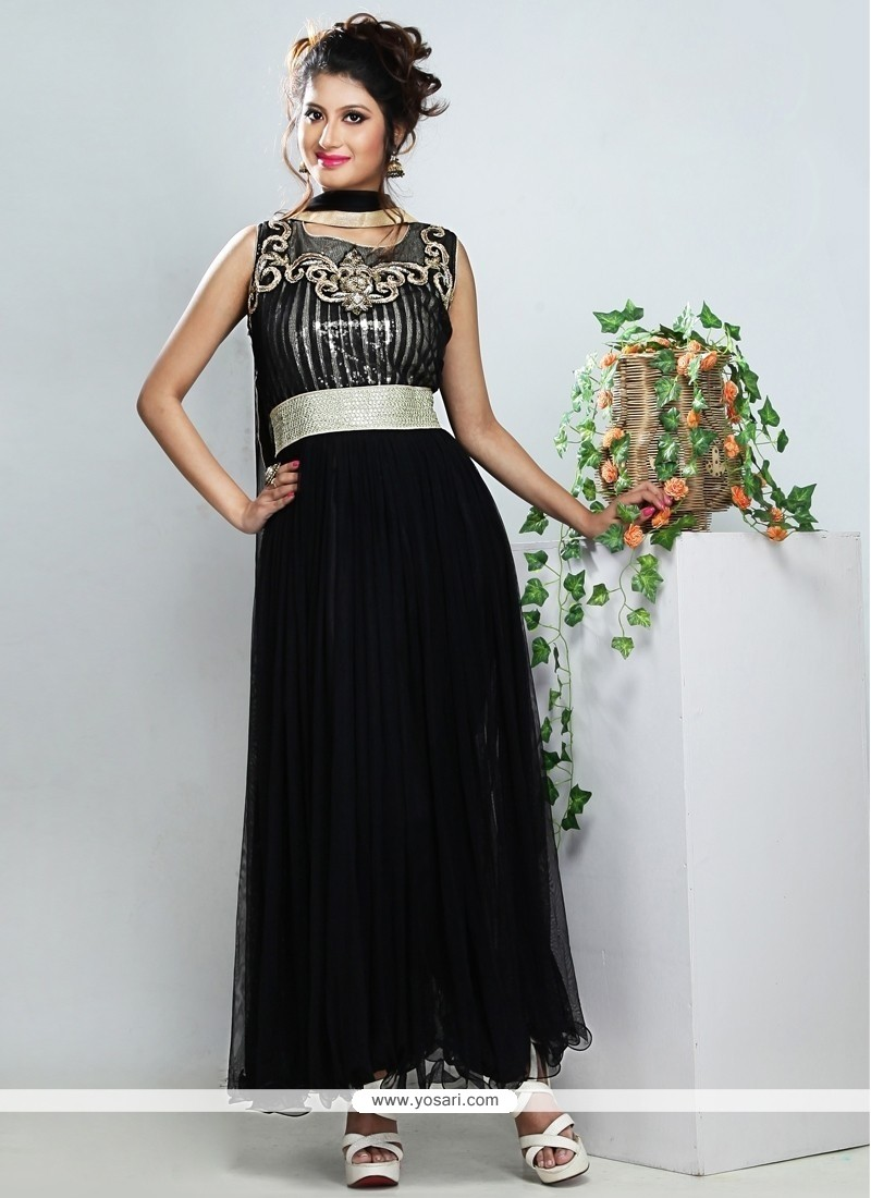 Fabulous Black Net Anarkali Suit