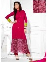 Magenta Georgette Pant Style Suit