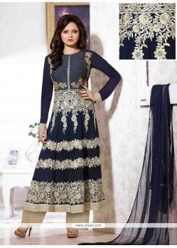 Navy Blue Georgette Pakistani Suit
