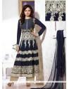 Navy Blue Georgette Pakistani Suit