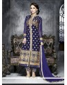 Pleasant Blue Georgette Pakistani Suit