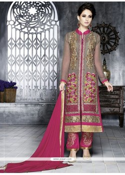 Tantalizing Grey Georgette Pakistani Suit
