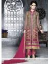 Tantalizing Grey Georgette Pakistani Suit