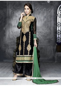 Simplistic Black Georgette Pakistani Suit
