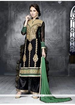Simplistic Black Georgette Pakistani Suit