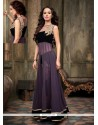 Purple And Black Georgette Anarkali Suit
