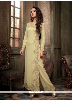 Amazing Moss Green Georgette Pakistani Suit