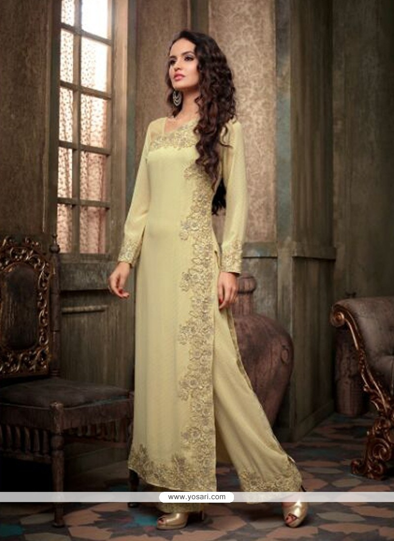Amazing Moss Green Georgette Pakistani Suit