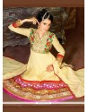 Pretty Cream Georgette Anarkali Suit