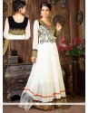 Miraculous White Georgette Anarkali Suit