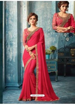 Rani Silk Designer Party Wear Saree
