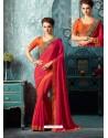 Fuchsia Silk Designer Party Wear Saree