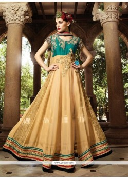 Amazing Cream Georgette Designer Suit