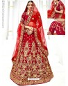 Latest Maroon Velvet Heavy Embroidered Hand Worked Designer Wedding Lehenga Choli