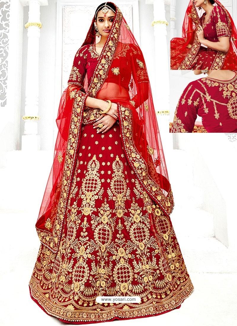 4b2d9826e6 Latest Maroon Velvet Heavy Embroidered Hand Worked Designer Wedding Lehenga  Choli