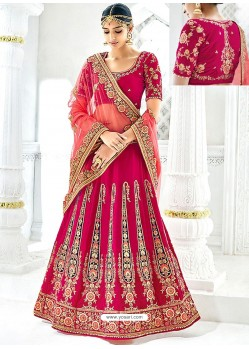 Crimson Banarasi Heavy Embroidered Hand Worked Designer Wedding Lehenga Choli