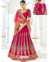 Crimson Banarasi Heavy Embroidered Hand Worked Designer Wedding Lehenga Choli