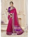 Medium Violet Cotton Silk Designer Woven Saree