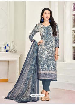 Pigeon Pure Satin Embroidered Straight Suit