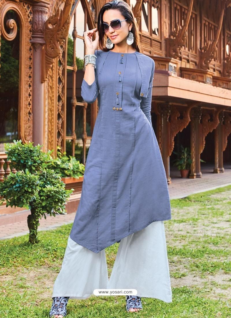 Pigeon Silk Cotton Designer Readymade Kurti