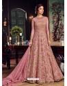 Light Pink Premium Net Embroidered Designer Anarkali Suit