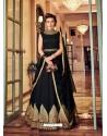 Black Banglori Silk Embroidered Designer Anarkali Suit