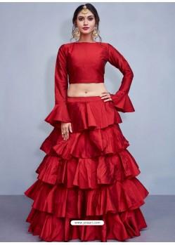 Maroon Art Silk Designer Lehenga Choli