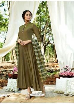 Mehendi Rayon Designer Readymade Kurti