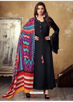 Black Rayon Readymade Designer Long Kurti