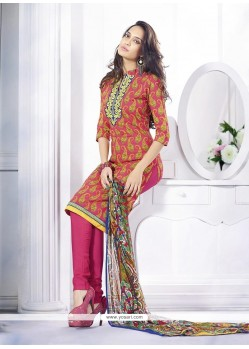Lisa Haydon Pink Cotton Churidar Suit