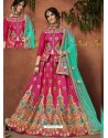 Fuchsia Heavy Zari Embroidered Designer Silk Lehenga Choli