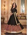 Black Georgette Embroidered Designer Anarkali Suit