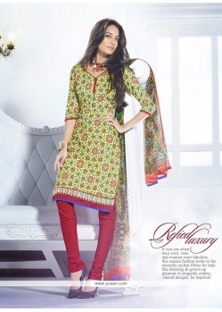 Lisa Haydon Multicolor Cotton Churudar Salwar Suit