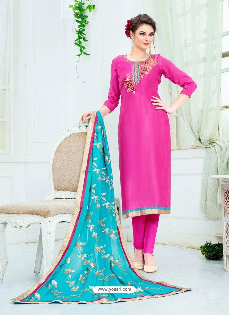 a20d6226d1 Buy Rani Pure Uppada Silk Embroidered Designer Straight Suit ...