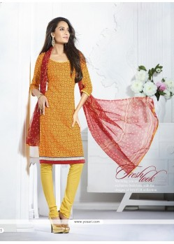 Lisa Haydon Mustard Cotton Churidar Suit