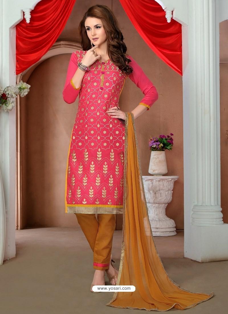 Crimson Glaze Cotton Designer Straight Suit