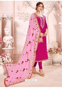 Rani Heavy Modal Silk Designer Gota Worked Churidar Suit