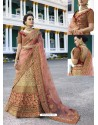 Beige Silk Heavy Embroidered Designer Wedding Lehenga Choli